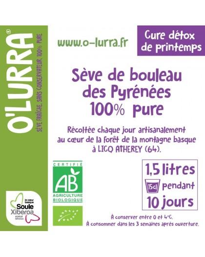 Sève de Bouleau O'LURRA 1,5 L